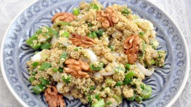 Protein packed quinoa stuffing for gluten free family feasts