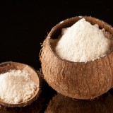 Coconut Flour: This flour is low in carbohydrates, high in fiber and has a delicious flavor.  You can use it to make baked goodies like macaroons, scones and doughnuts.  Here's an easy to make coconut flour doughnut recipe.