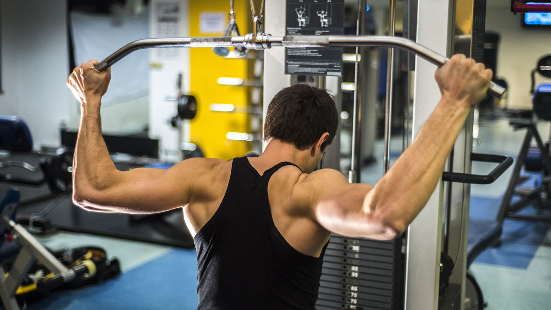 Wide grip lat pulldown