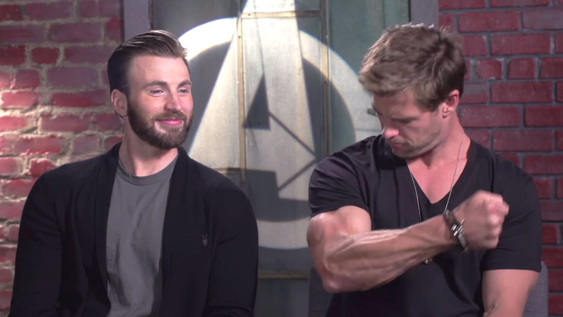 avengers talk about biceps
