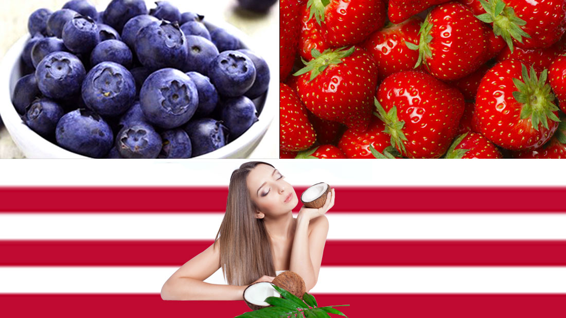 american flag inspired skincare routine