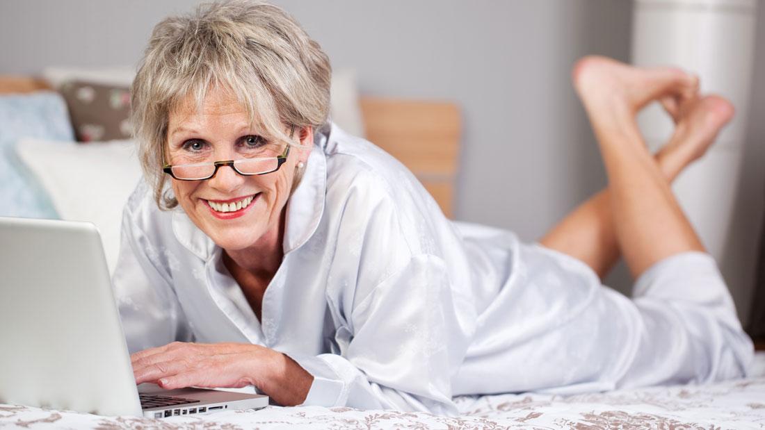 Old seniors enjoying sex