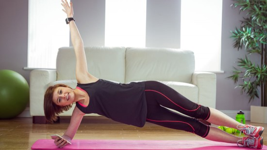 side plank post pregnancy exercise