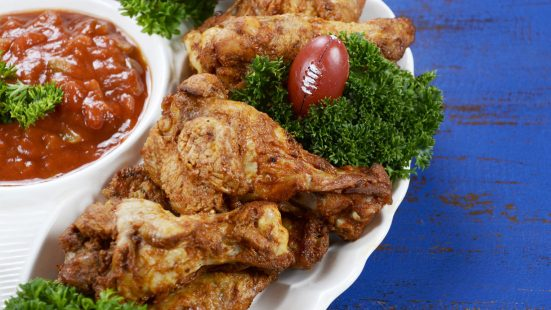 football chicken wings