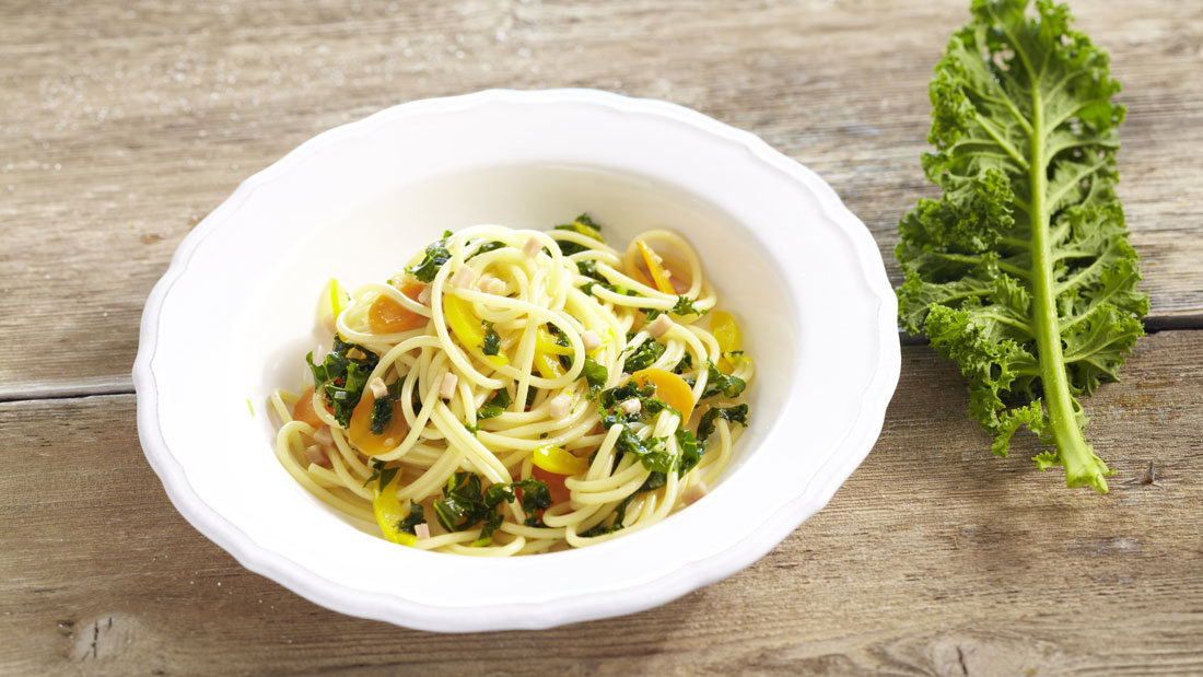 spaghetti with kale