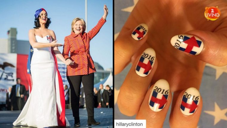 katy-perry-supports-hillary-clinton-with-nail-art