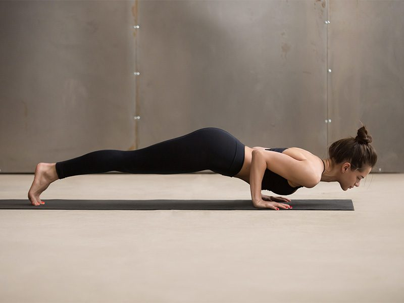 Yoga Poses: Four-limbed Staff Pose