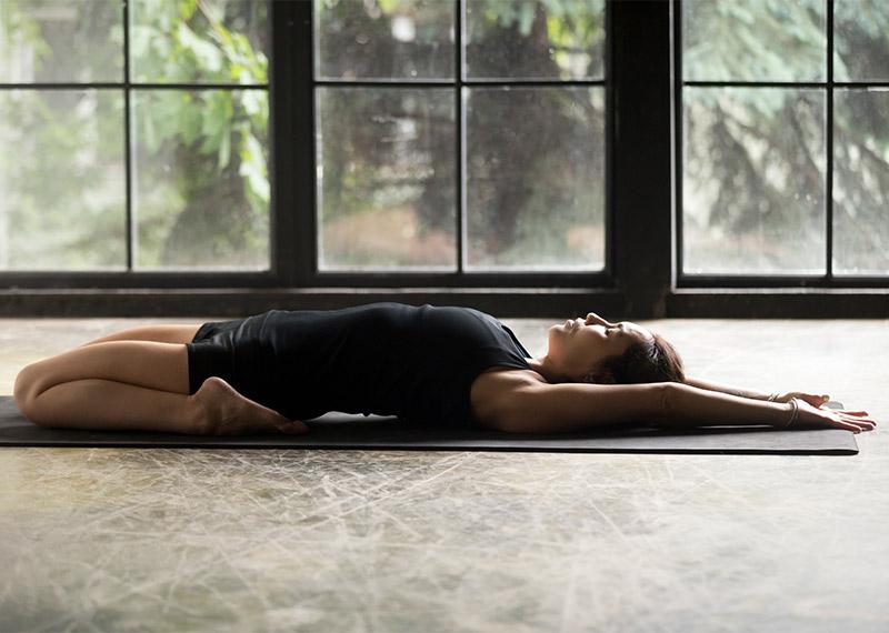 Yoga Poses: Reclining Hero Pose