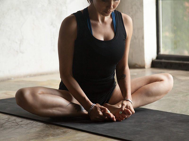Yoga Poses: Bound Angle Pose
