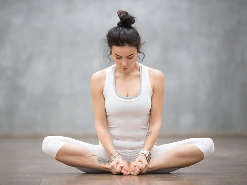 Bound Angle Pose for Meditation