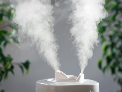 dry skin in the winter humidifier distributing moisture