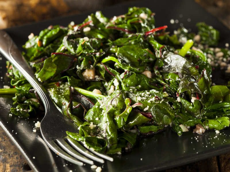 Swap Spinach for Swiss Chard When Sautéing Your Greens