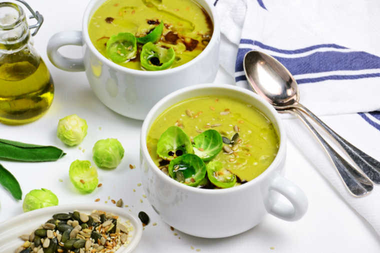Low-Carb Roasted Brussels Sprouts Soup
