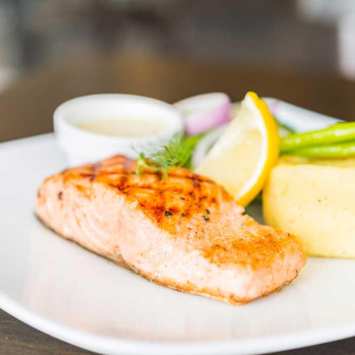 roasted salmon with maple glaze