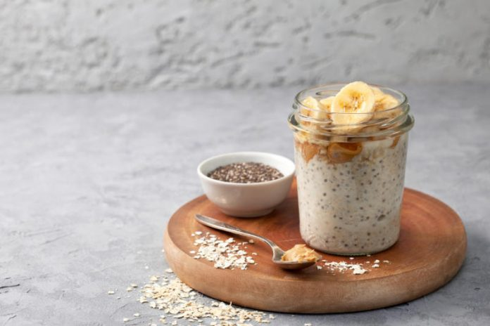 Chia Pudding Recipe with Bananas and Peanut Butter