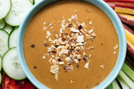 Healthy Peanut Dipping Sauce
