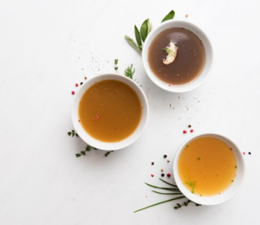 cups of bone broth