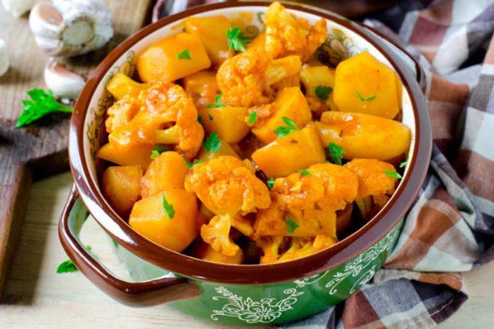 Chili Cauliflower and Potato Recipe