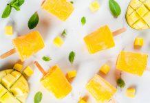 Mango coconut orange popsicles