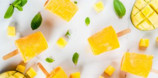 Mango coconut orange popsicles