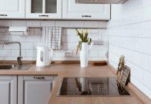clean organized kitchen with storage
