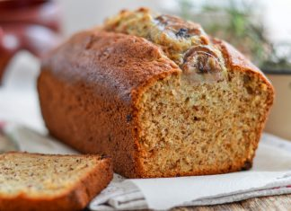 gluten-free banana bread sliced