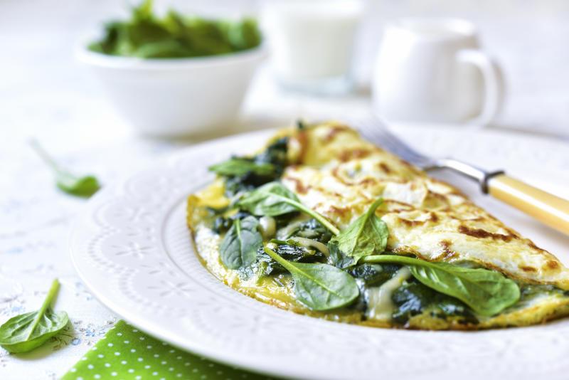 Egg White Spinach Omelette