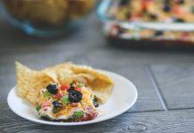 7 Layer Dip Recipe in a bowl