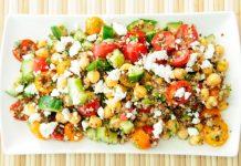chickpea salad on a plate