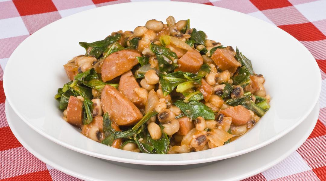 Black-Eyed-Peas-with-Turkey-Sausage