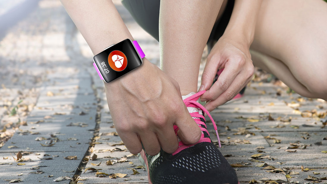 Connected-fitness-tracker