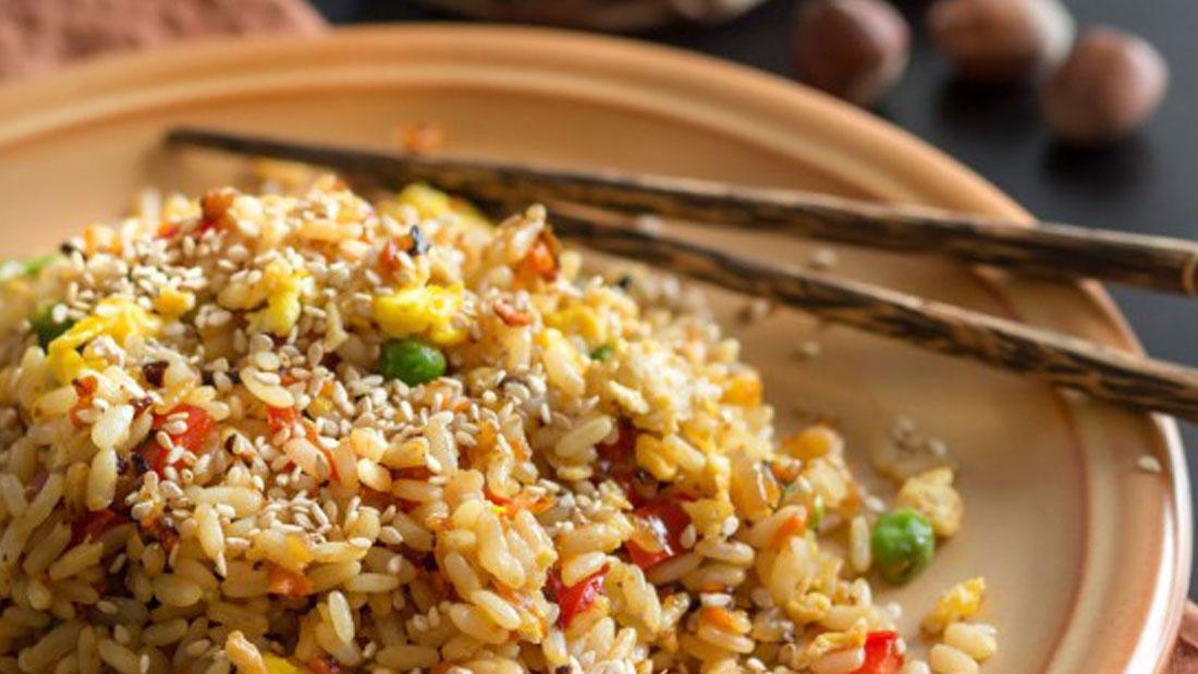 Steamed-brown-basmati-rice
