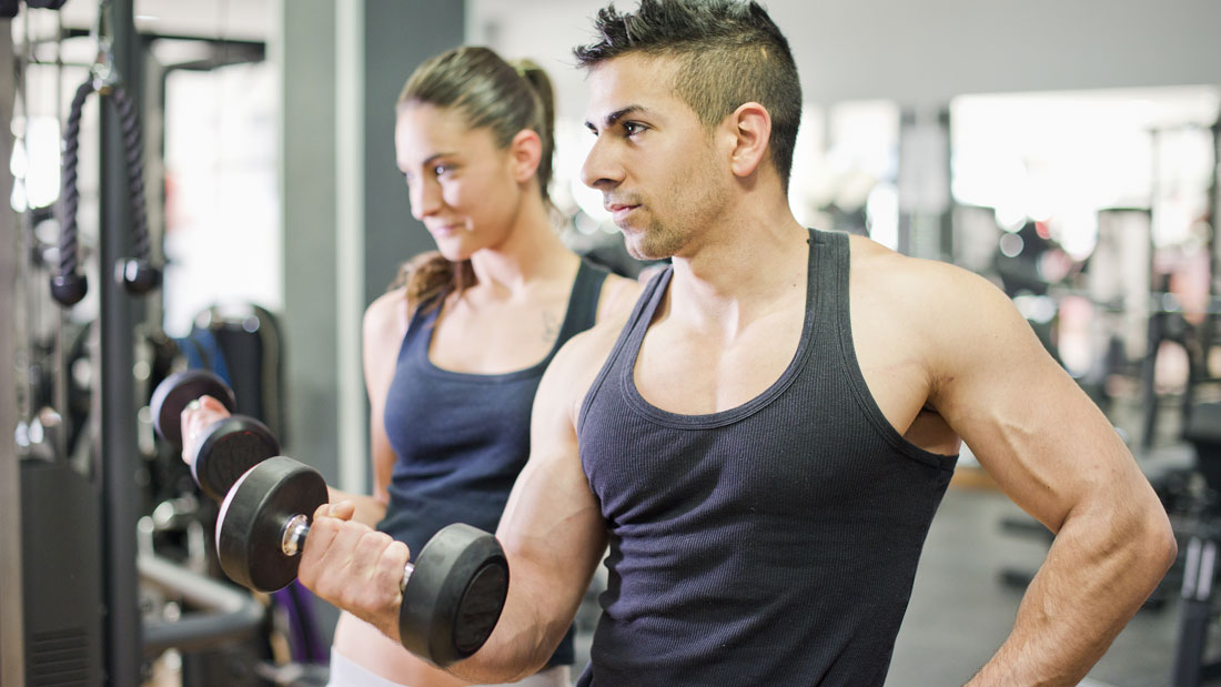 muscle building with light weights
