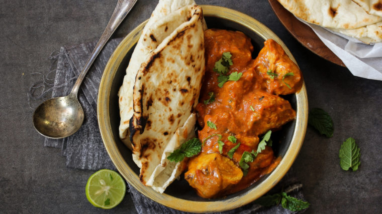Instant Pot Chicken Recipes butter chicken plated