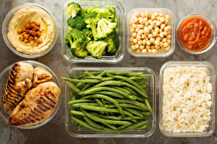 healthy meal prep food storage