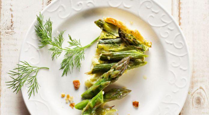 slice of asparagus tart