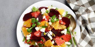 beet and orange salad on a plate