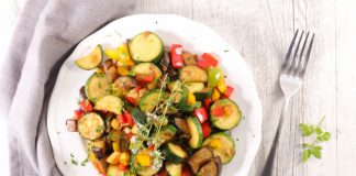 roasted vegetables on a plate
