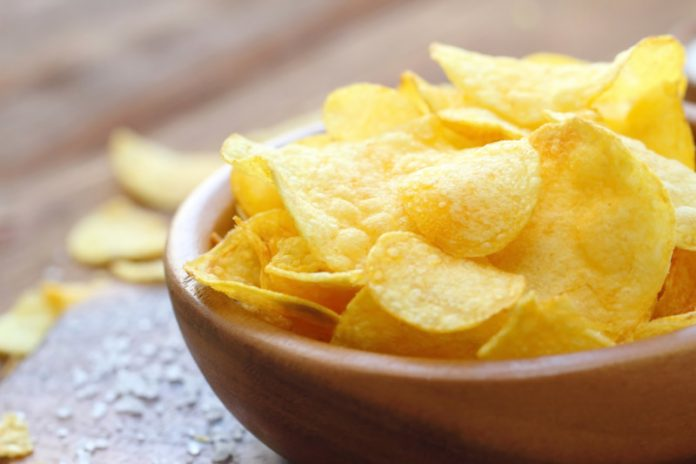 trans fat found in potato chips