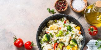 bowl rice with veggies