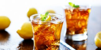 Iced Tea in a glass with fresh mint