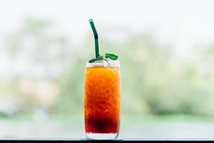 rooibos iced tea in a glass