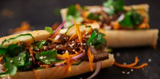 banh mi sandwich with beef