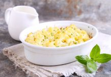 cauliflower mock potato salad in a bowl