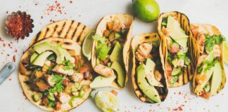 Chicken Tacos with avocado