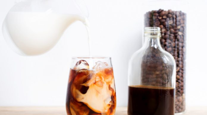 Cold Brew Coffee Recipe in a glass with milk
