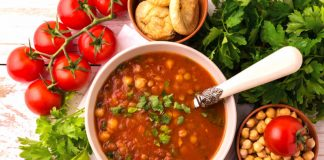 harira soup in a bowl