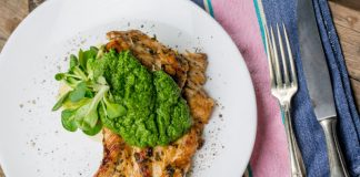 Pesto Chicken on a plate