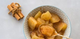 stewed apples in a bowl