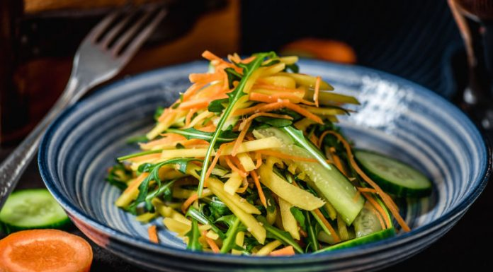 Thai salad recipe in a bowl
